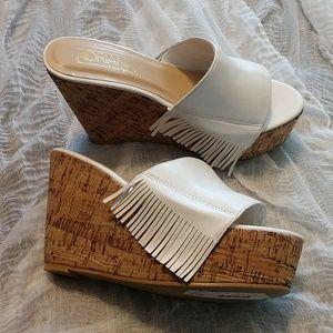 Adriana NY Lazaro Cork Wedge Slip-on sandal
